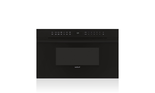 "Wolf 30"" E Series Contemporary Drop-Down Door Microwave Oven MDD30CM/B/TH with Black Handle"