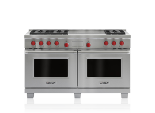 "Wolf 60"" Dual Fuel Range - 6 Burners and French Top DF606F"