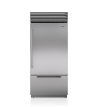 "Sub-Zero 36"" Classic Over-and-Under Refrigerator/Freezer with Internal Dispenser BI-36UID/S"