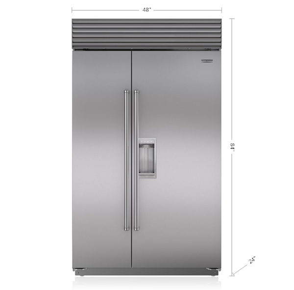 48 Quot Classic Side By Side Refrigerator Freezer With