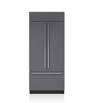 "Sub-Zero 36"" Built-In French Door Refrigerator/Freezer with Internal Dispenser - Panel Ready BI-36UFDID/O"