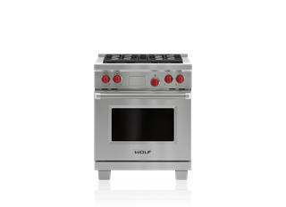 "Wolf 30"" Dual Fuel Range - 4 Burners DF304"