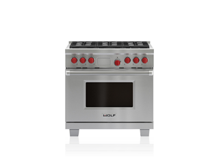 "Wolf 36"" Dual Fuel Range - 6 Burners DF366"