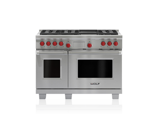 "Wolf 48"" Dual Fuel Range - 6 Burners and Infrared Charbroiler DF486C"