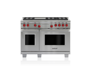 "Wolf 48"" Dual Fuel Range - 6 Burners and Infrared Griddle DF486G"