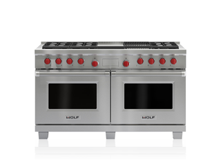 "Wolf 60"" Dual Fuel Range - 6 Burners, Infrared Charbroiler and Infrared Griddle DF606CG"