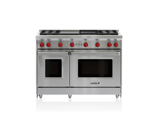 "Wolf 48"" Gas Range - 4 Burners, Infrared Charbroiler and Infrared Griddle GR484CG"