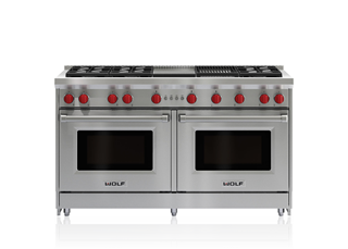 "Wolf 60"" Gas Range - 6 Burners, Infrared Charbroiler and Infrared Griddle GR606CG"