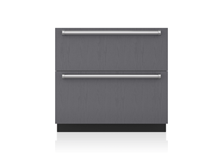 "Sub-Zero 36"" Designer Refrigerator and Freezer Drawers with Ice Maker - Panel Ready ID-36CI"