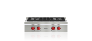 "Wolf 30"" Sealed Burner Rangetop - 4 Burners SRT304"