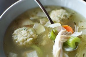 Homemade Chicken Soup with Matzo Parsley Dumplings