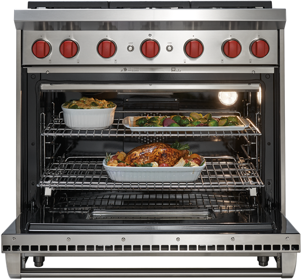 36 In Gas Range Six Burners Convection Oven Wolf Appliance