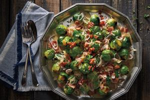 Brussels Sprouts with Caramelized Shallots and Bacon