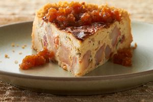 Rock Shrimp Cheesecake with Three Pepper Jam